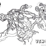 Venom Coloring Pages Spiderman Fight Against Venom
