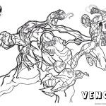 Venom Coloring Pages Spiderman Fight Against Venom