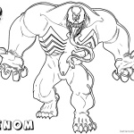 Venom Coloring Pages Strong Venom Fanart