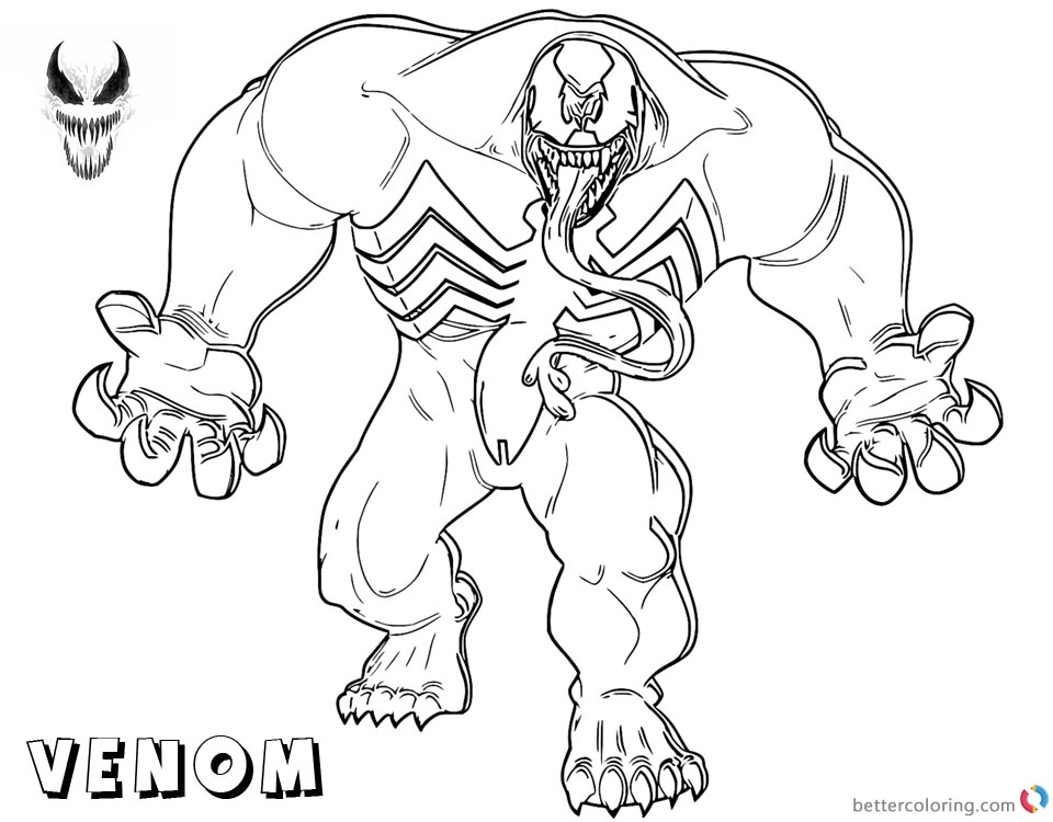 Childrens coloring pages spiderman and venom ~ Venom Coloring Pages Strong Venom Fanart - Free Printable ...
