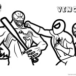 Venom Coloring Pages The Flash and Spiderman Fight Against Venom