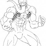 Venom Coloring Pages Venom Lineart by 09tuf