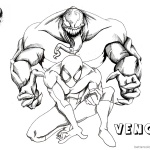 Venom Coloring Pages Venom and Spiderman Fanart