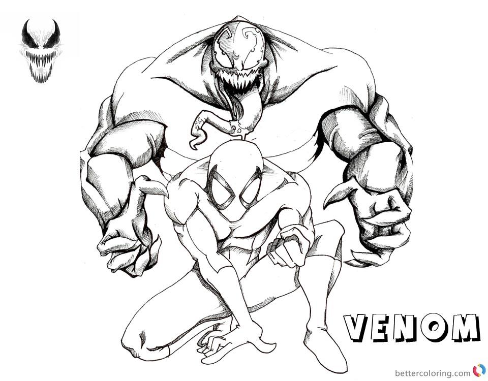 Venom Coloring Pages Venom And Spiderman Fanart