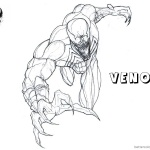 Venom Coloring Pages Venom is Coming