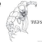 Venom Coloring Pages Venom is Coming