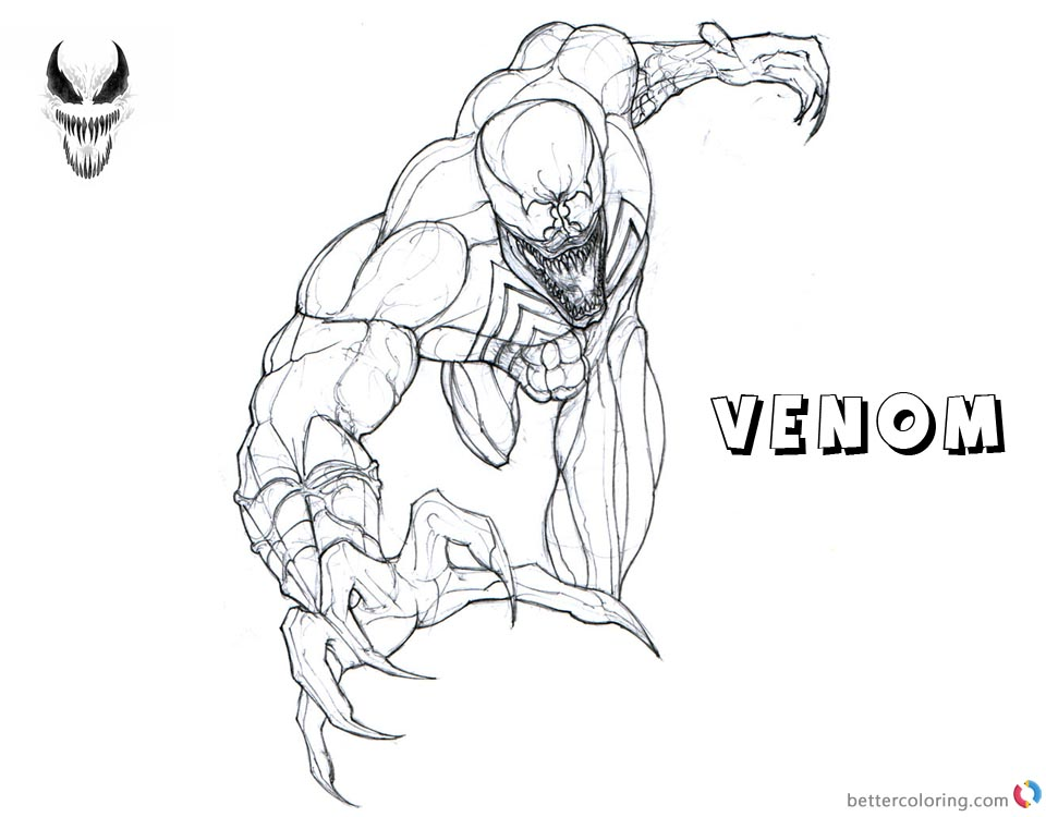 Venom Coloring Pages Venom is Coming - Free Printable Coloring Pages