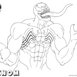 Venom Coloring Pages We are Venom Lineart