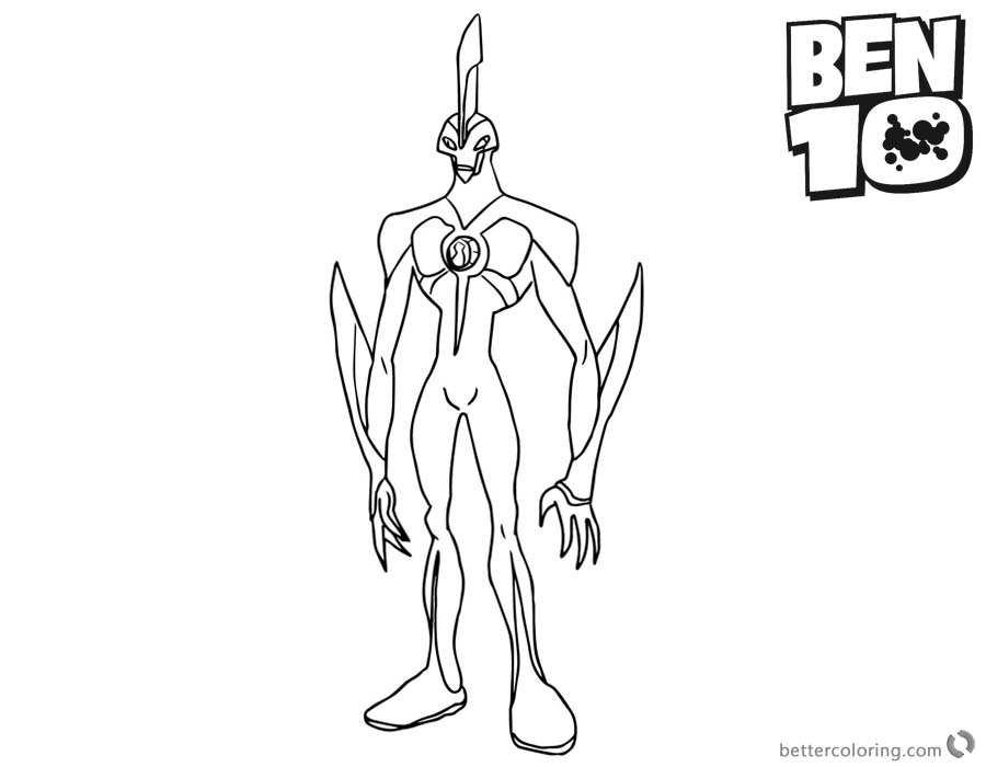 Way Big From Ben 10 Coloring Pages Alien Force