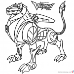 Voltron Coloring Pages Black Lion