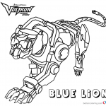 Voltron Coloring Pages Yellow Lion Free Printable Coloring Pages