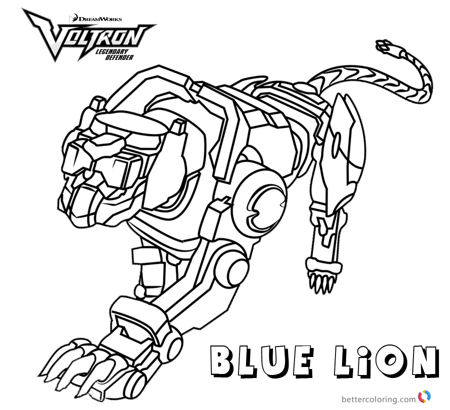 Voltron Coloring Pages Blue Lion - Free Printable Coloring Pages