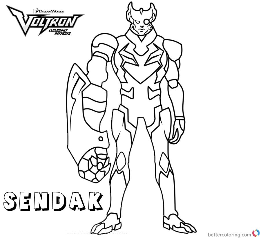 Voltron Coloring Pages Commander Sendak printable