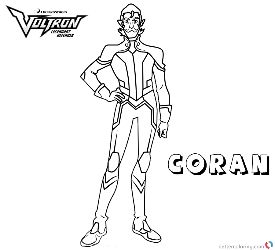 Voltron Coloring Pages Coran printable