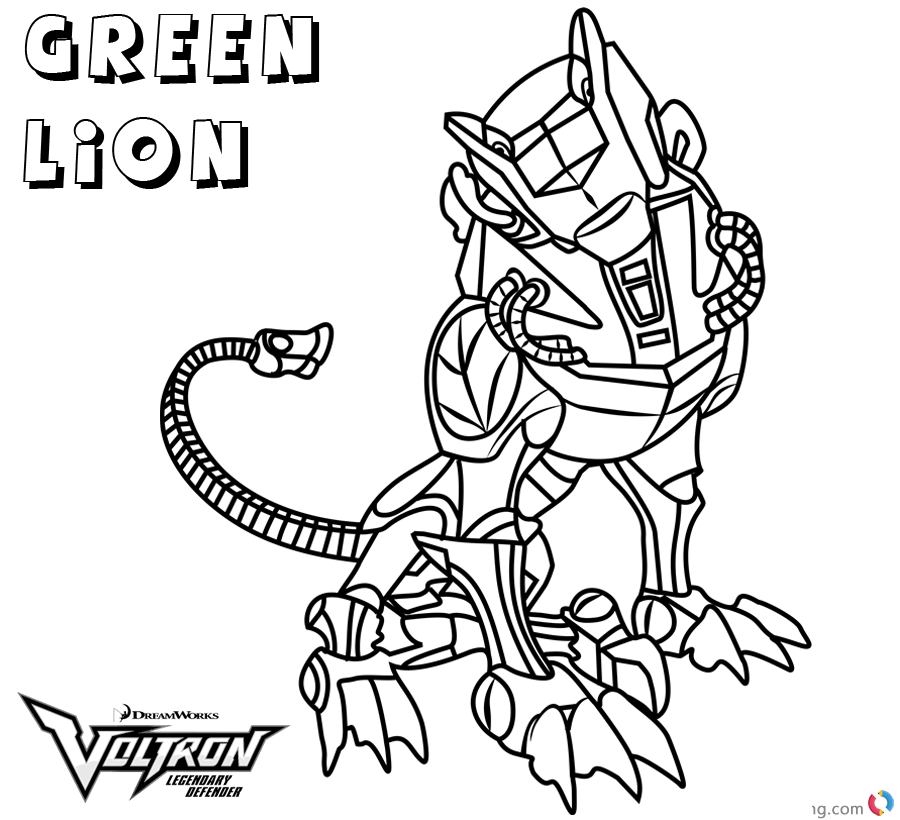 Voltron Coloring Pages Green Lion printable
