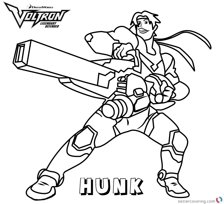 Voltron Coloring Pages Hunk Free