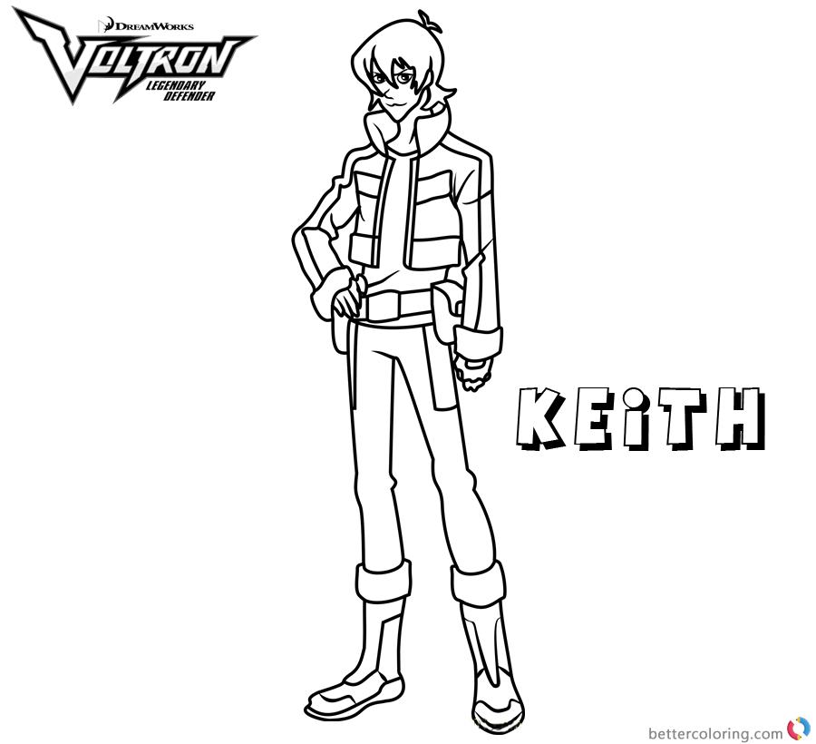Voltron Coloring Pages Keith printable