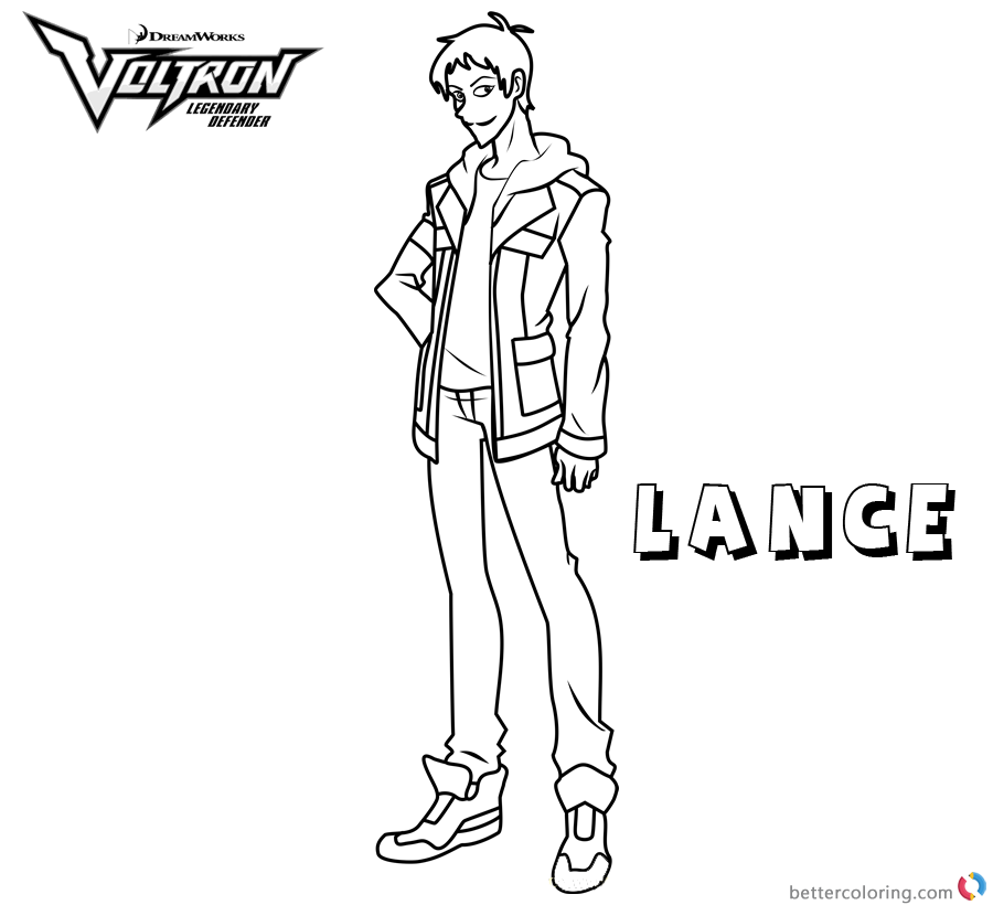 Voltron Coloring Pages Lance Free Printable Coloring Pages