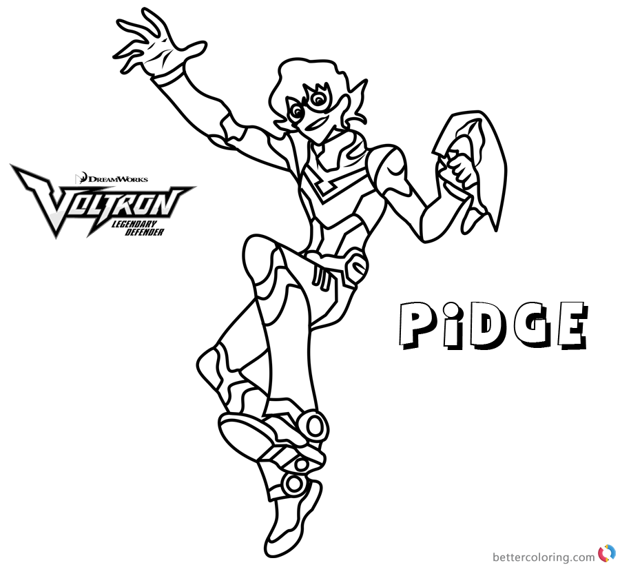 Voltron Coloring Pages Pidge Free Printable Coloring Pages