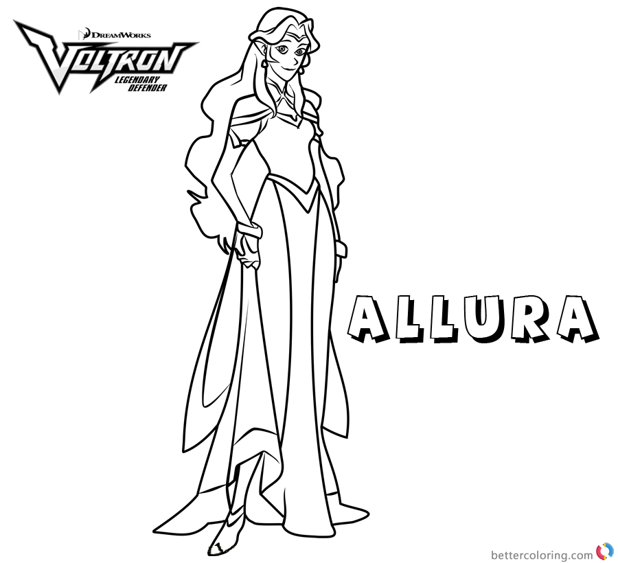 Voltron coloring pages princess allura free printable for Voltron coloring pages free