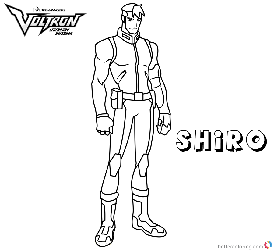Voltron Coloring Pages Shiro printable