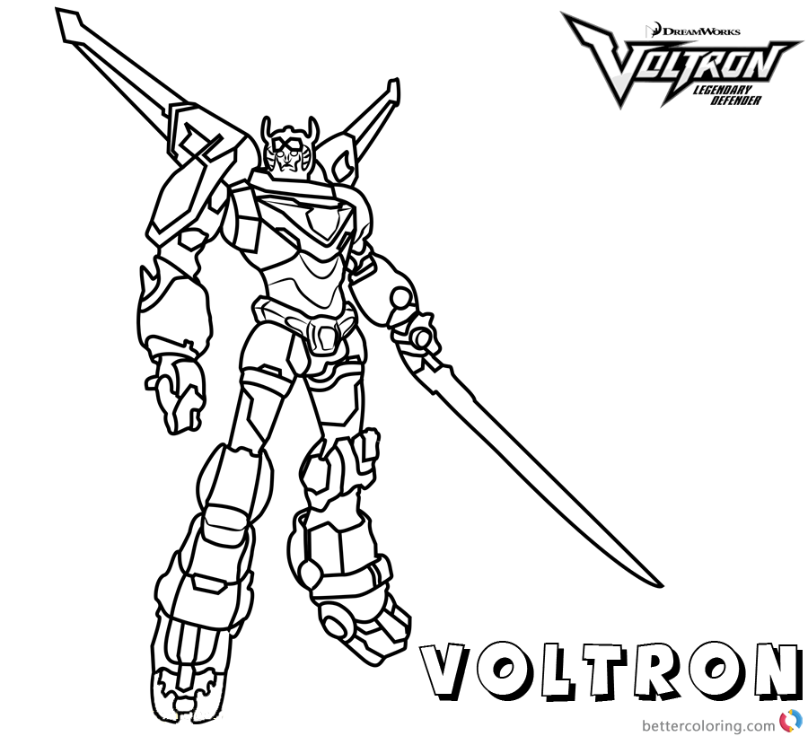 Voltron Coloring Pages Voltron printable