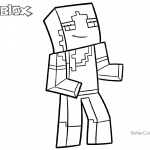 Alex from Minecraft Coloring Pages of Roblox Characters
