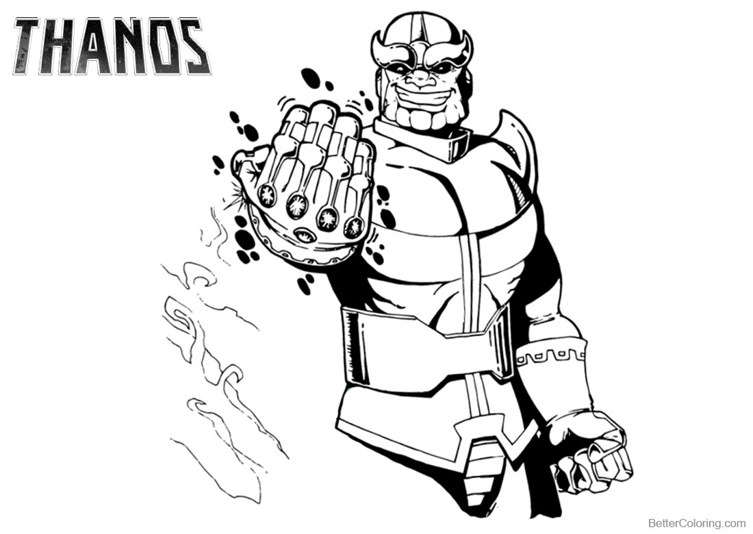 Avengers Thanos Coloring Pages printable for free