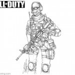 Call of Duty Black OPS Coloring Pages Ghost