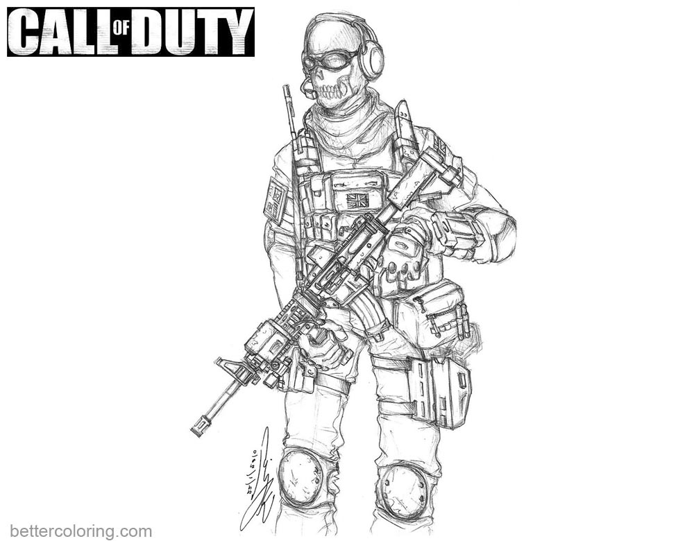 Call of Duty Black OPS Coloring