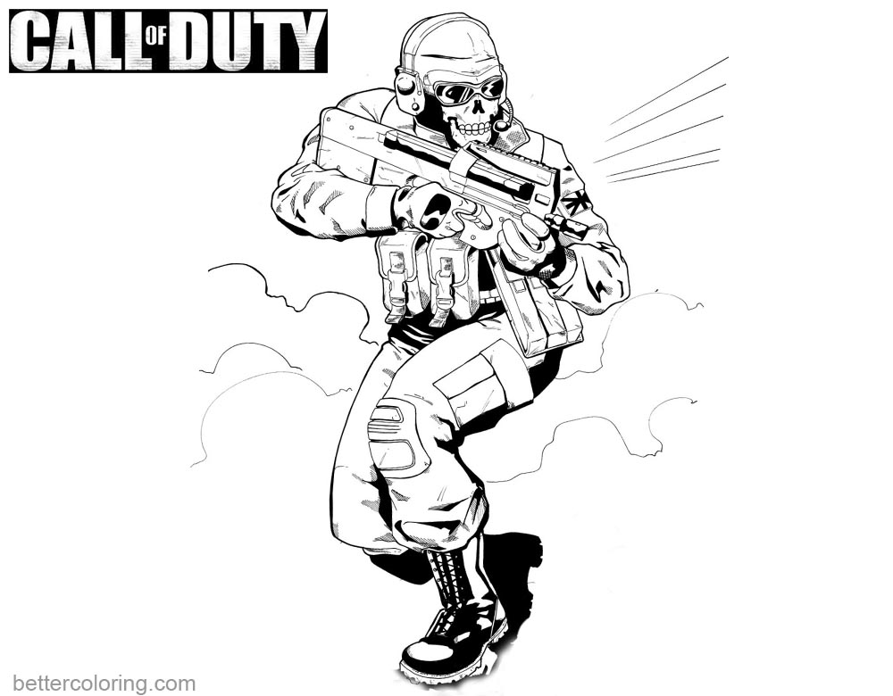 Call of Duty Black OPS Coloring Pages - Free Printable ...