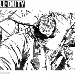 Call of Duty Coloring Pages Black OPS 2