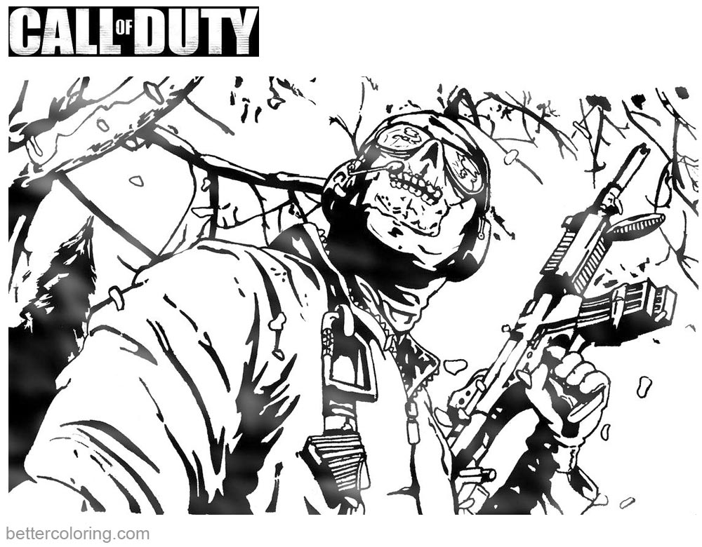 Free Coloring Pages Call Of Duty Zombies