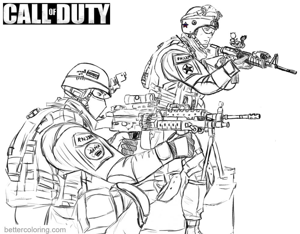 call of duty coloring pages black ops sketch