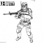 Call of Duty Coloring Pages Black and White
