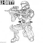 Call of Duty Coloring Pages Character