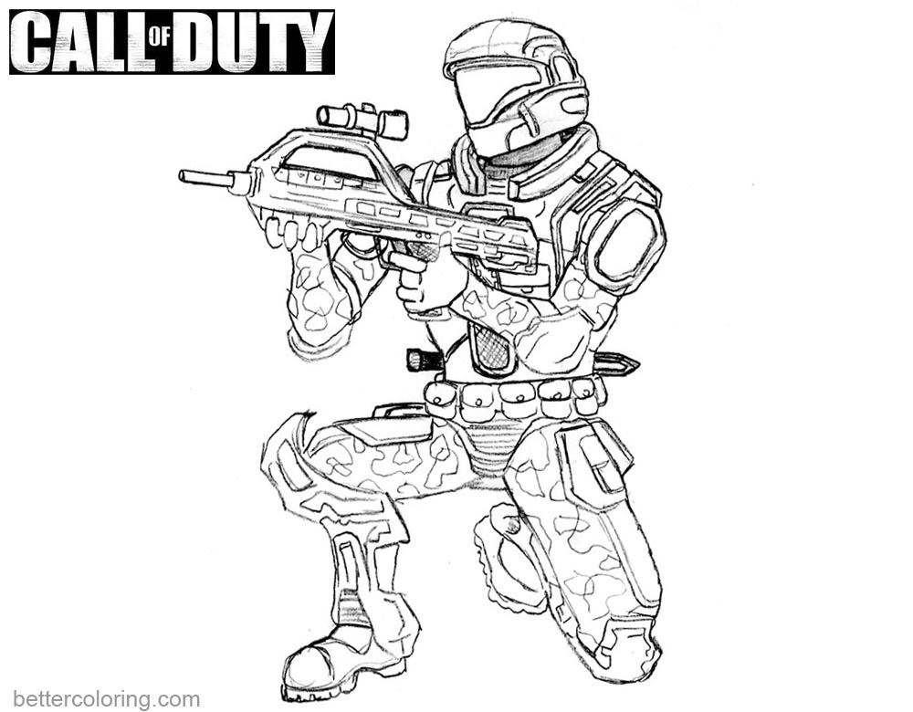 call of duty coloring pages character printable for free - Call Of Duty Coloring Pages