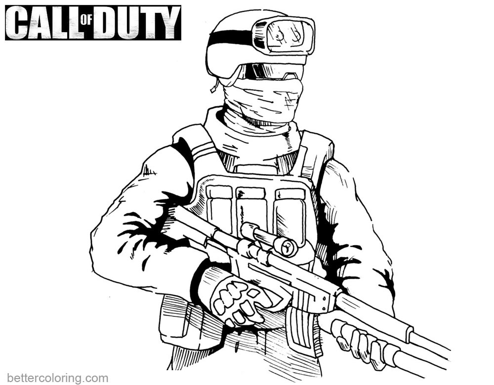 Call of Duty Coloring Pages Drawing by danboy0812 printable for free