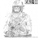 Call of Duty Coloring Pages Fan Art Picture