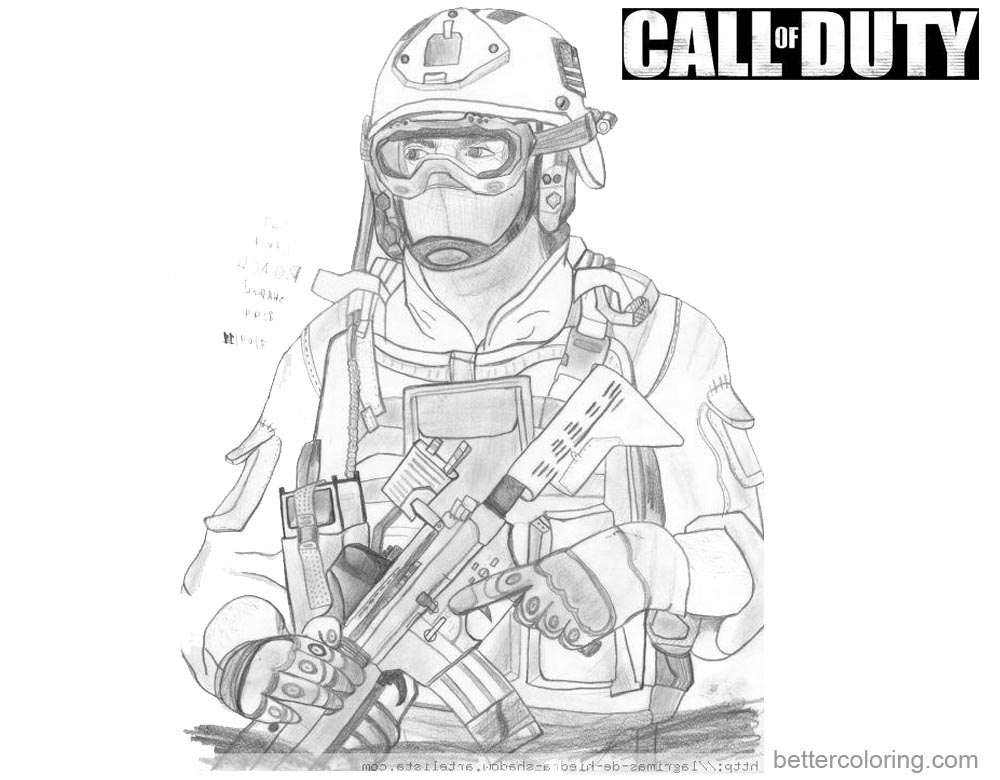 Call of Duty Coloring Pages Fan Art Picture - Free ...