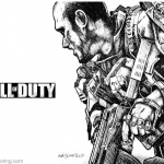 Call of Duty Coloring Pages Fan Art by Glen A Schofield