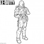 Call of Duty Coloring Pages Fan Line Art