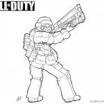 Call of Duty Coloring Pages Fanart