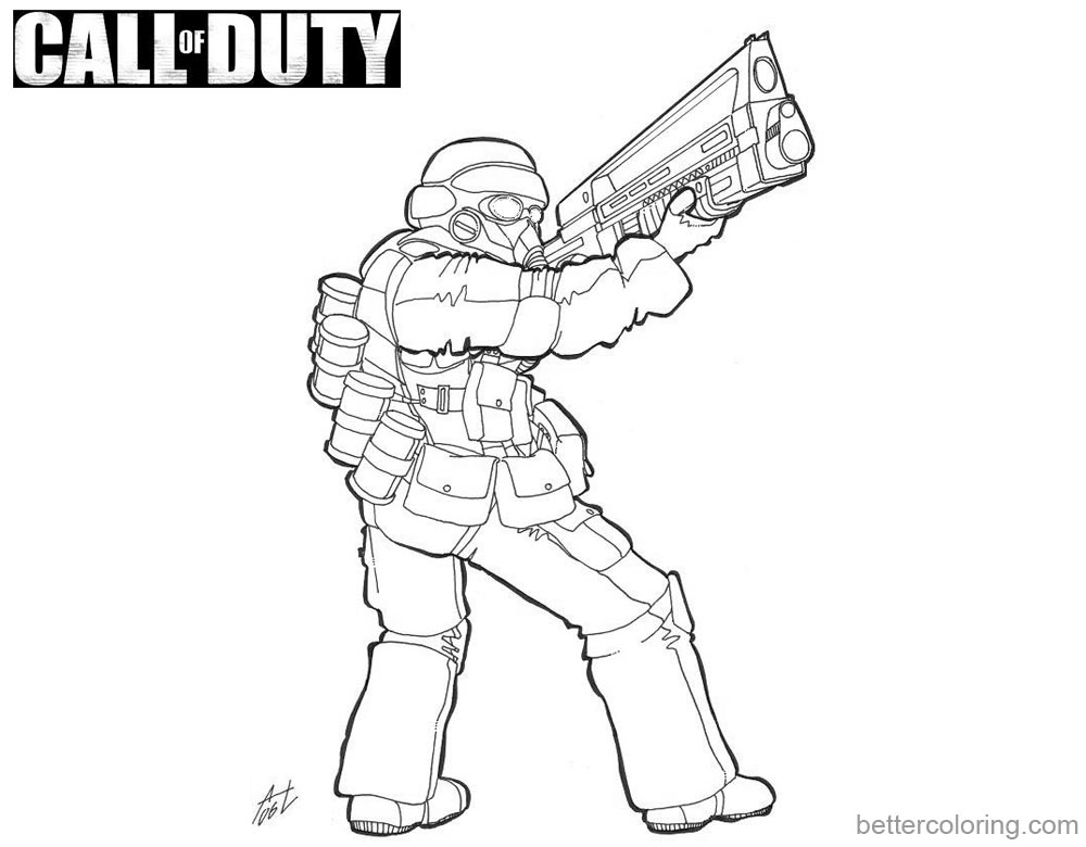 Call of Duty Coloring Pages Fanart printable for free