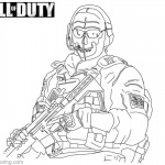 Call of Duty Coloring Pages Ghost Lineart