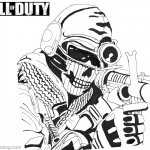 Call of Duty Coloring Pages Ghost by kopale