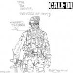 Call of Duty Coloring Pages Line Drawing