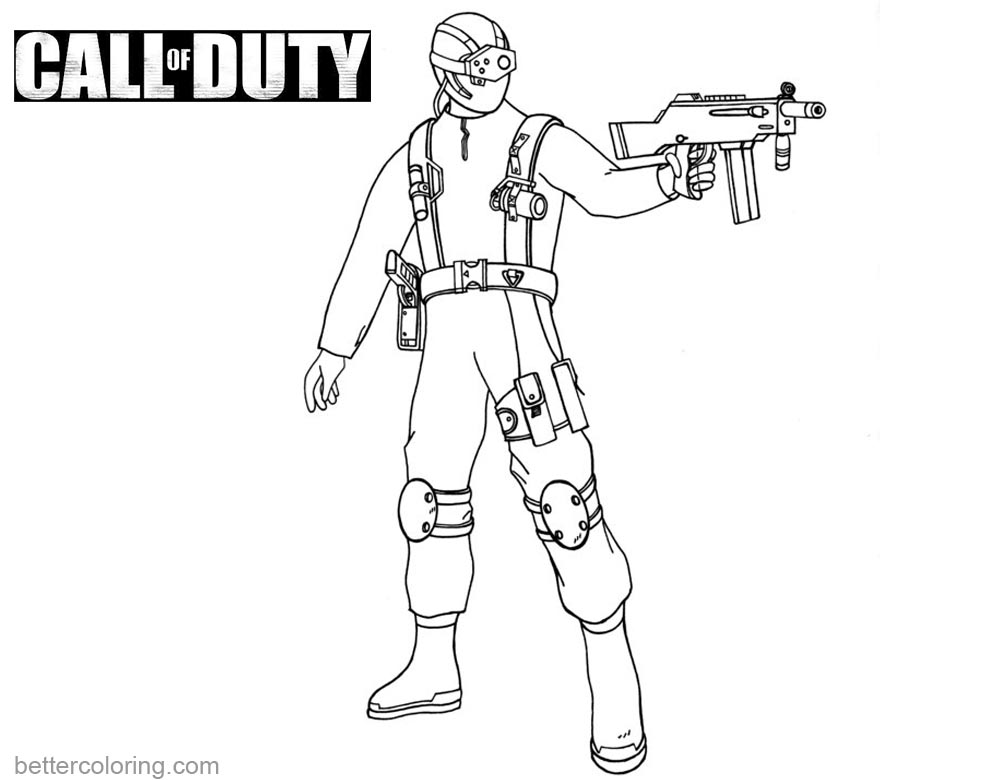 Call Of Duty Coloring Pages Lineart Free Printable Coloring Pages