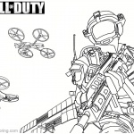 Call of Duty Coloring Pages MQ-27 Stunt Drone