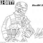 Call of Duty Coloring Pages MW3 Frost by bluemk